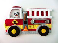 Felt Fire Station - Fire Truck & Dalmatian