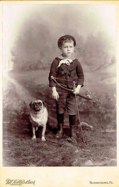 Vintage Doggy: A Boy and His Pug