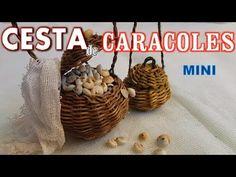 Cesta para caracoles (caracolera) en miniatura - YouTube