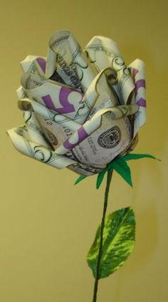 DIY money rose gift