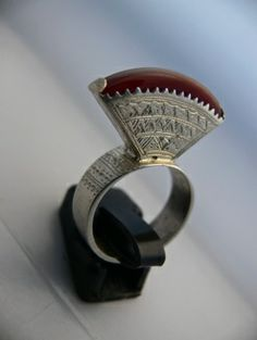 Touareg ring. Silver and carnelian