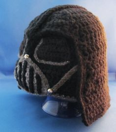 Darth Vadar Star Wars Crocheted Helmet Hat, Made to Order in All Sizes