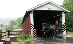 Amish and Covered Bridge in the Rain | Flickr - Photo Sharing!