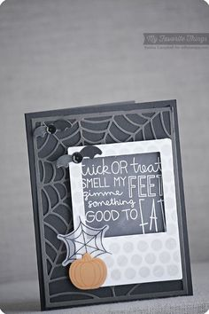 Trick or Treat stamp set and Die-namics, Large Scale Background, Spider Web Cover-Up Die-namics - Keisha Campbell #mftstamps