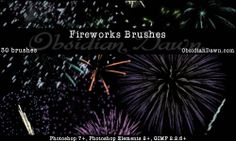 150+ Free Awesome Fireworks #Brushes For Photoshop