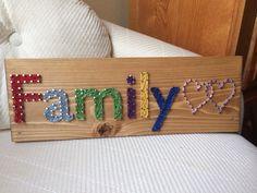 Family String Art- Order from KiwiStrings on Etsy! ( www.KiwiStrings.etsy.com )