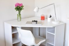 34 best small corner desk images home office office home small rh pinterest com small white corner desk with drawers small white corner desk amazon