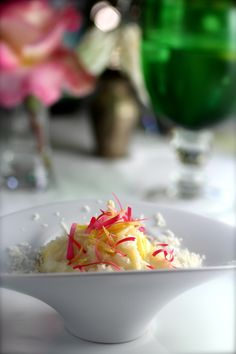 From Taste with the Eyes: Meyer Lemon & Pink Rose Petal Risotto