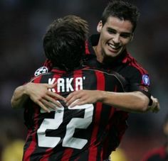 Kaká, AC Milan and Yoann Gourcuff, AC Milan (2006–2008, 36 apps, 2 goals)