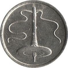 5 Sen #Malesia  1989-2011 Rappresenta una trottola.