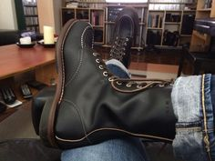 Bought these Red Wing Huntsman Boots at Grahame Fowler, 138 West 10th Street. Great boots, awesome store.