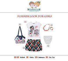 #Summer #look for #girls from #TucTuc #Boboli #Haba #Calamaro.  Check at www.kidsandchic.com/girl    #girlsclothing #girlsfashion #kidsfashion #trendychildren #kidsclothing #shoppingbarcelona #tshirts #skirts #bags