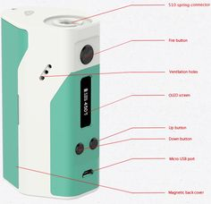 Wismec Reuleaux RX200 200W Box Mod - Jay Bo Designswith latest v3 firmware which includes TC profile for SS316 & TCR Designed in the USA by JayboThe Wismec