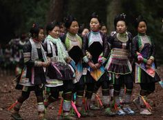Miao women in Basha Village, Guizhou