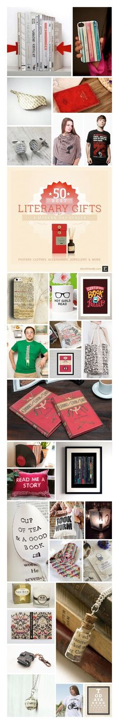 Best gifts for a modern-day book lover: posters and home decor, tablet and e-reader cases, jewelry, clothing, and more.