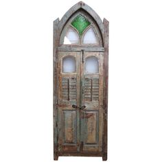Century Teak Wood Gothic Window from a Portuguese Colonial Cathedral