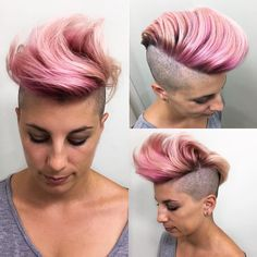 30 Adoring Pastel Pink Hair Styles — Yummy Colors Check more at http://hairstylezz.com/best-pastel-pink-hair/