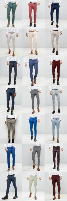 Mens Style Discover 21 ASOS Wedding skinny suit pants for guys - FrenzyStyle Formal Men Outfit, Casual Outfits, Men Casual, Casual Clothes, Formal Wear For Men, Formal Dresses For Men, Smart Casual Wear, Mode Bcbg, Look Fashion