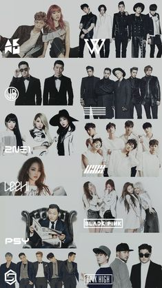 Welcome to YG Family Lockscreen World ! Korean Entertainment Companies, Kpop Entertainment, Family Meme, Family Logo, 2ne1, Yg Groups, K Pop, Vaporwave, Music Production Companies