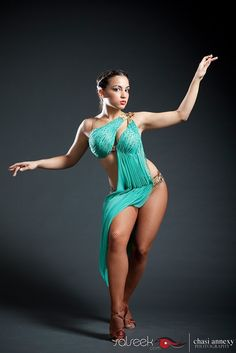 Photo by Chasi Annexy of SALSEEK.com from 1 of 10 photos featured in the TOP 10 Ladies Costumes.  Dancer is Vanessa Pena of Lorenz Latin Dance Studios
