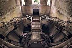 Staircase of an abandoned hotel somewhere in Italy