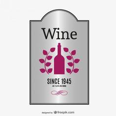 étiquette élégante de vecteur de vin Vecteur gratuit