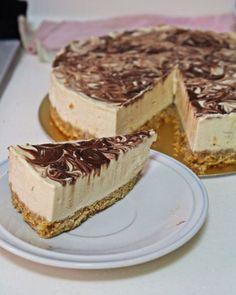 no bake amarula cheese cake with chocolate