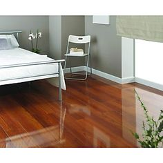 Wickes High Gloss Plateau Merbau Laminate Flooring