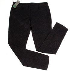 Benetton Black Brocade Trousers Sz 8 UK 40 EU BNWT