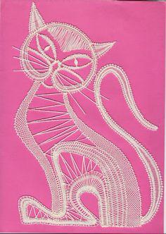 gatos - mdstfrnndz - Picasa Web Album Chat Crochet, Irish Crochet, Crochet Motif, Crochet Designs, Doily Art, Lace Art, Bruges Lace, Bobbin Lacemaking, Crochet Dollies