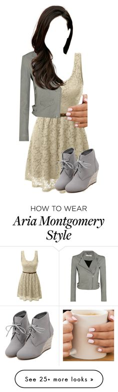"""""""Aria Montgomery"""" by aquamarine03 on Polyvore featuring LE3NO, IRO and WithChic"""