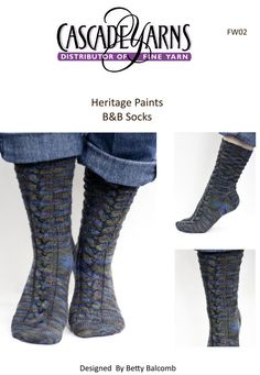 B&B Socks in Cascade Heritage Paints - FW02. Discover more Patterns by Cascade Yarns at LoveKnitting. The world's largest range of knitting supplies - we stock patterns, yarn, needles and books from all of your favorite brands.