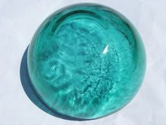 Blue glass! Turquoise glass!A vase, a dish, a bowl, a glass...ANYTHING!