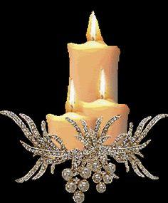 Candles and Rhinestone Holder