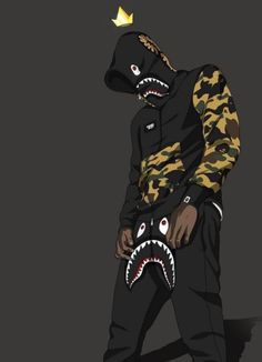 List of Great Orange Anime Wallpaper IPhone Cartoon Wearing Supreme Wallpapers Top Free Cartoon with The Most Awesome Cartoon Wallpaper Bape Cartoon Wallpaper, Uicideboy Wallpaper, Dope Wallpaper Iphone, Tupac Wallpaper, Future Wallpaper, Shoes Wallpaper, Wallpaper Keren, Arte Dope, Dope Art