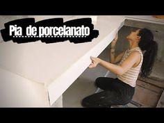 Fiz minha Pia da cozinha de Porcelanato! - YouTube Decoration, Sweet Home, Youtube, Home Decor, Pallet Kitchen Cabinets, Kitchen Drawers, Concrete Kitchen, Kitchen Sinks, Kitchen Design
