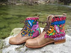 Custom designed by YOU and handmade in Guatemala - Teysha Guate Boots connect you to traditional Latin American artisans and their culture. $200
