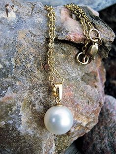 Freshwater pearl and gold necklace - Wedding nacklaces (*Amazon Partner-Link)