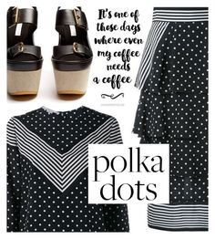 """So Dotty: Polka Dots Meet Stripes"" by maranella ❤ liked on Polyvore featuring STELLA McCARTNEY and PolkaDots"