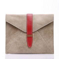 Roots leather iPad sleeve