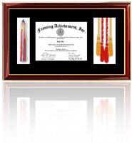 medallion diploma frame fraternity honor frame honors certificate frame medal award frame tassle society college university graduation gifts graduate school honors cord tassel