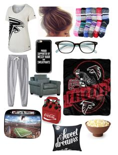 """""""Go Falcons!"""" by candyisthebest ❤ liked on Polyvore featuring NIKE, Casetify, Kate Spade, The Northwest Company, Picnic Time, football and GoFalcons"""