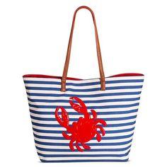 Bueno Women's Tote Handbags with Crabs - Blue/White