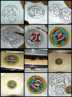 Shrinky Santa Tutorial. Shrinky Dink paper is sold at Joann Fabrics and Crafts. We can have Trace-ables for the boys, or they can make up their own! Then off to the oven while they work on something else.