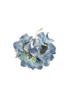 **Blue Orchid Wrist Garland by Orelia