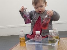 Colored Water in Bottles! Great for color lessons!