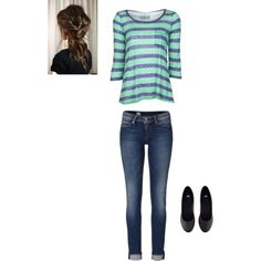 """Cute Casual School Outfit"" by maddie-kibbee on Polyvore"