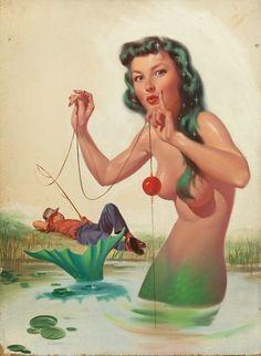 Harold McCauley mermaid pin-up.