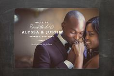 Timeless Save The Date Cards by Oscar & Emma at minted.com