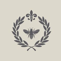 French by Design Vinyl Wall Decals Laurel Wreath Bon Mein Café, Le Tattoo, Tattoo Quotes, Honey Logo, Honey Label, Life Is Beautiful Quotes, Beautiful Beautiful, Italian Life, Bee Art